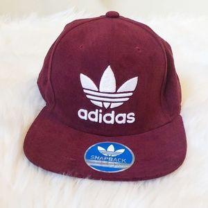 Adidas Originals Faux Suede Snap Back Cap Hat